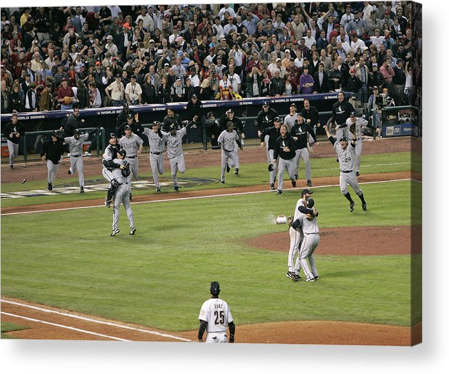 People Acrylic Print featuring the photograph 2005 World Series - Chicago White Sox by G. N. Lowrance