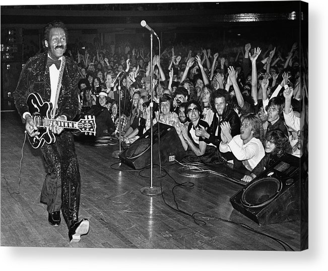 Rock Music Acrylic Print featuring the photograph Chuck Berry In Concert At The Palladium by George Rose