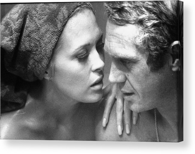 Timeincown Acrylic Print featuring the photograph Faye Dunawaysteve Mcqueen by Bill Ray