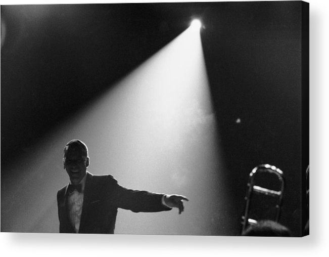 Singer Acrylic Print featuring the photograph Frank Sinatra On Stage by John Dominis