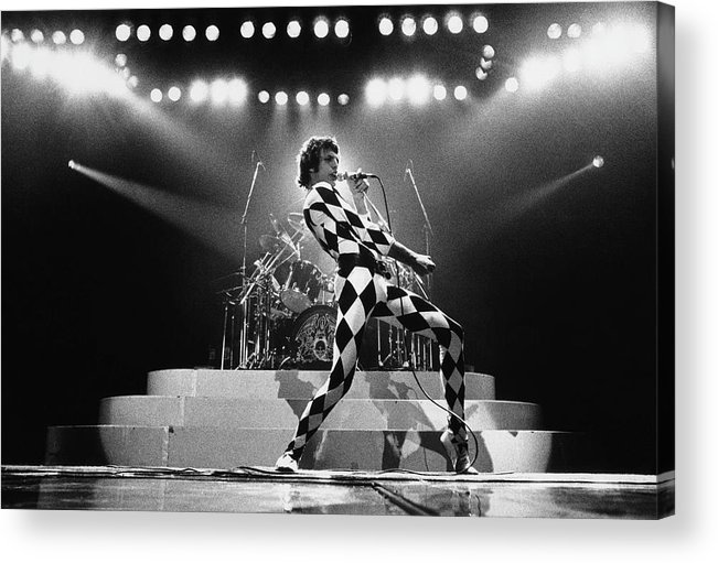 Freddie Mercury Acrylic Print featuring the photograph Freddie Mercury Of Queen by George Rose