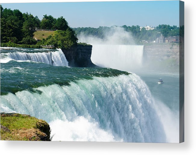 Scenics Acrylic Print featuring the photograph Niagara Falls From The Usa Side by Franckreporter