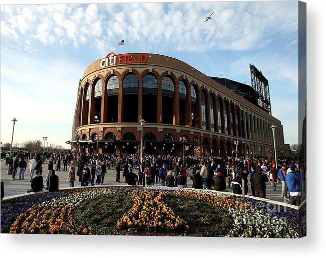 Residential District Acrylic Print featuring the photograph San Diego Padres V New York Mets by Ezra Shaw