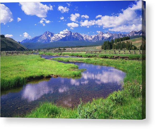 Scenics Acrylic Print featuring the photograph Sawtooth Mountain Range, Idaho by Ron thomas