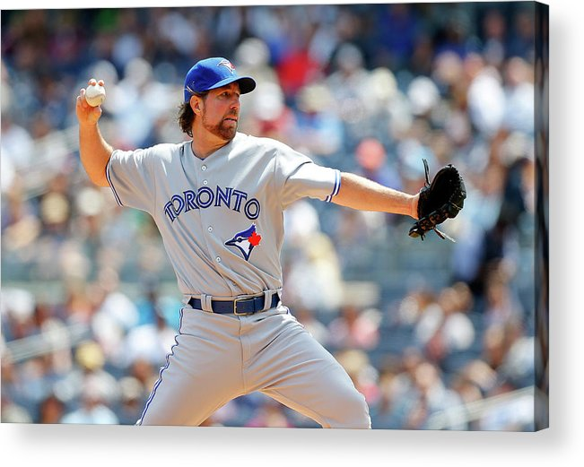 American League Baseball Acrylic Print featuring the photograph Toronto Blue Jays V New York Yankees by Jim Mcisaac