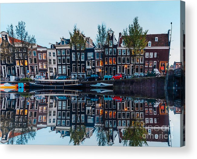 Arch Acrylic Print featuring the photograph Typical Dutch Houses Reflections by Serts