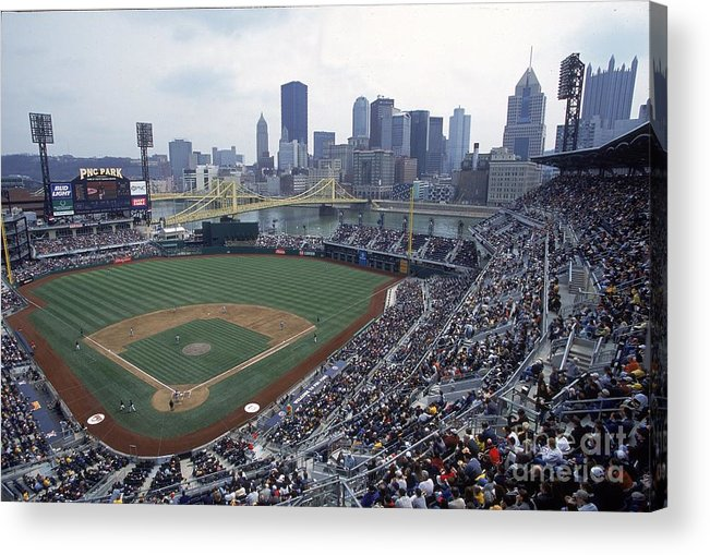 Pnc Park Acrylic Print featuring the photograph View Of Stadium by Jamie Squire