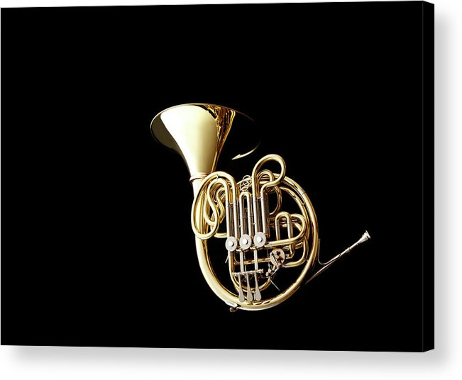 French Horn Acrylic Print featuring the photograph Wind Instrument by Yuji Kotani