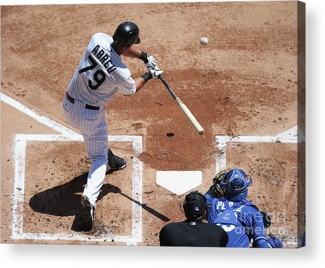 American League Baseball Acrylic Print featuring the photograph Kansas City Royals V Chicago White Sox by Jonathan Daniel