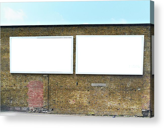 Empty Acrylic Print featuring the photograph 2 Blank Billboards by Ben Richardson