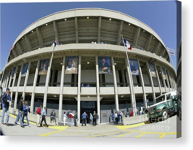 American League Baseball Acrylic Print featuring the photograph Detroit Tigers V Kansas City Royals by Tim Umphrey