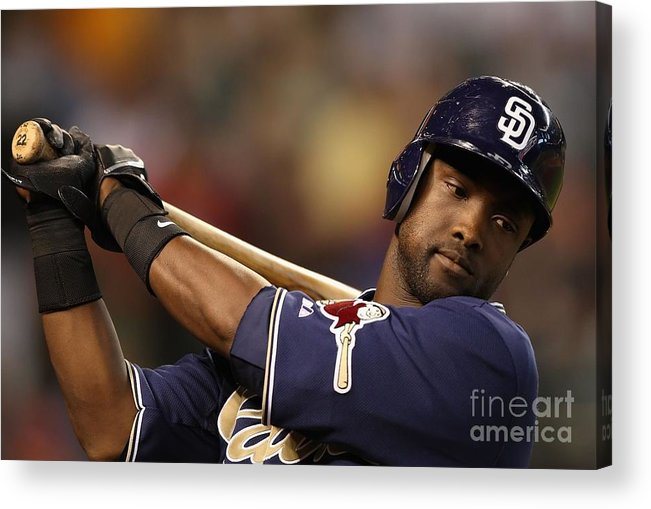 Tony Gwynn Jr. Acrylic Print featuring the photograph San Diego Padres V Arizona Diamondbacks by Christian Petersen