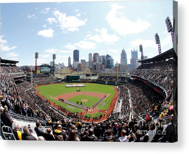 American League Baseball Acrylic Print featuring the photograph St Louis Cardinals V Pittsburgh Pirates by Justin K. Aller