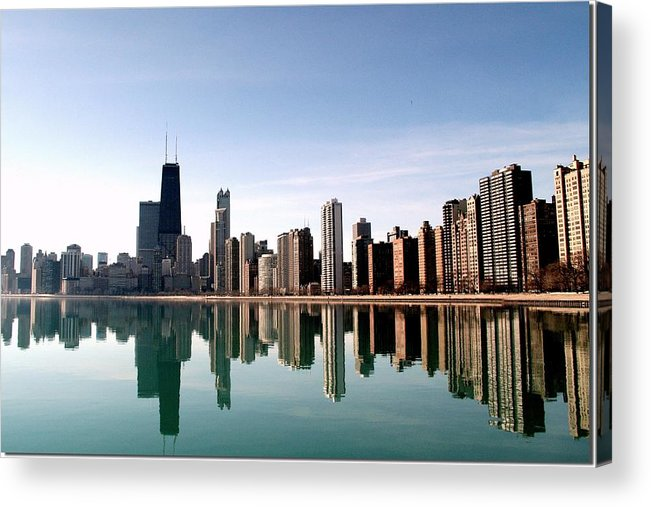 Lake Michigan Acrylic Print featuring the photograph Chicago Skyline by J.castro