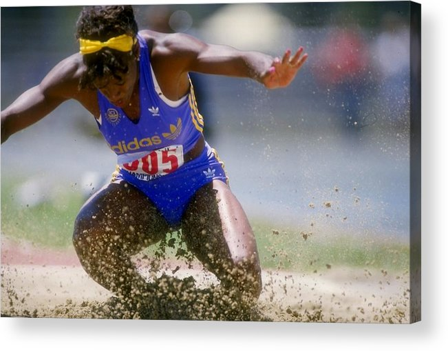 Long Acrylic Print featuring the photograph Jackie Joyner-kersee by Tony Duffy