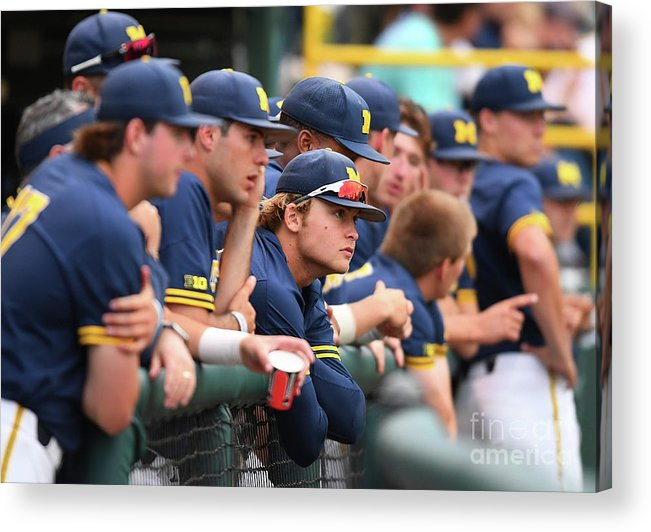 People Acrylic Print featuring the photograph Michigan V Ucla - Game One by Jayne Kamin-oncea