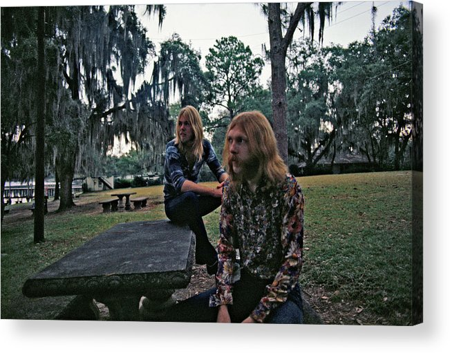 Horizontal Acrylic Print featuring the photograph Photo Of Allman Brothers by Michael Ochs Archives