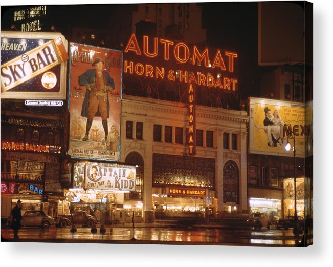 Timeincown Acrylic Print featuring the photograph New York by Andreas Feininger