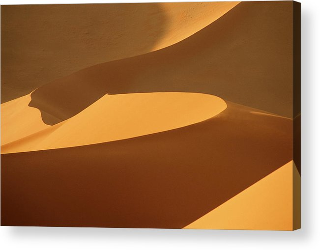 Shadow Acrylic Print featuring the photograph Africa, Namibia, Sand Dunes, Full Frame by Peter Adams