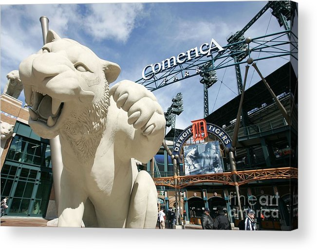 Playoffs Acrylic Print featuring the photograph Alcs Game 4 Oakland As V Detroit Tigers by Jonathan Daniel