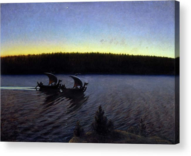 B1019 Acrylic Print featuring the painting Ankarcrona: Days Of Yore by Gustaf Ankarcrona