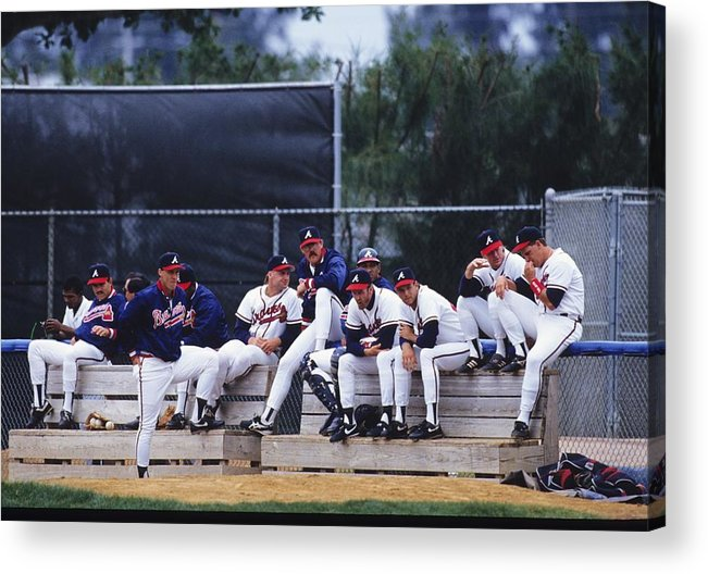 Florida Acrylic Print featuring the photograph Atlanta Braves by Ronald C. Modra/sports Imagery