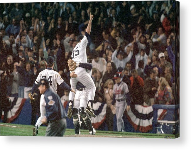 Celebration Acrylic Print featuring the photograph Atlanta Braves V New York Yankees by Al Bello