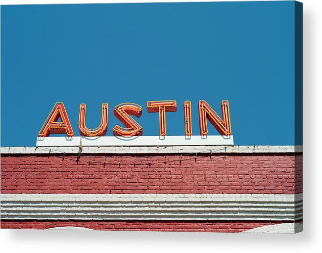 Sunlight Acrylic Print featuring the photograph Austin Neon Sign by Austinartist