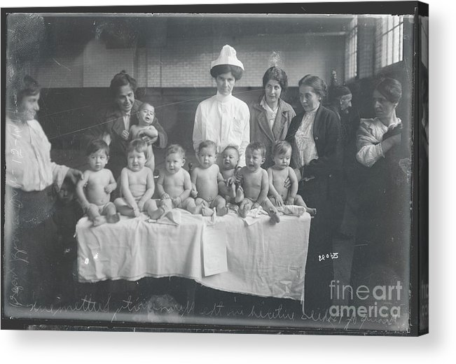 People Acrylic Print featuring the photograph Babies Entering Contest by Bettmann