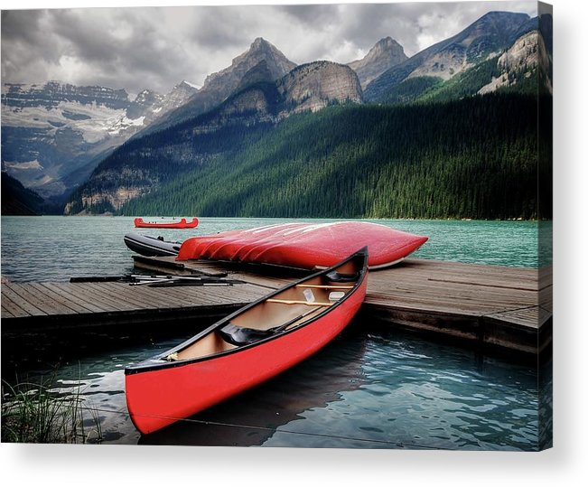 Banff National Park Lake Louise Acrylic Print By Rex Montalban Photography