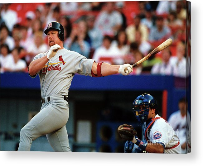 St. Louis Cardinals Acrylic Print featuring the photograph Baseball - Mark Mcgwire by Icon Sports Wire