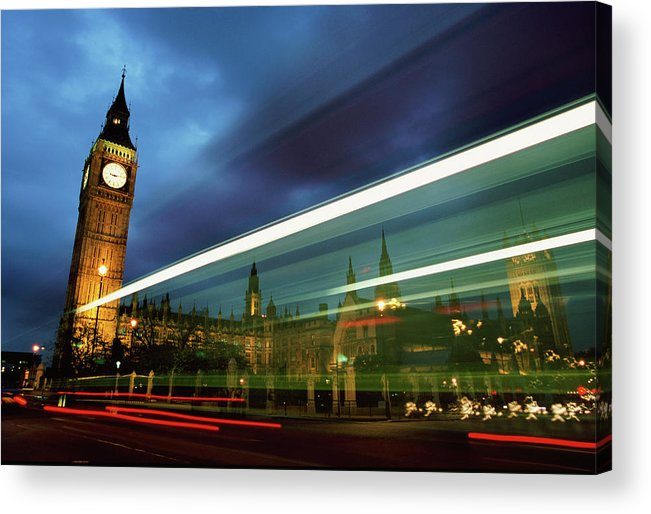 Gothic Style Acrylic Print featuring the photograph Big Ben And The Houses Of Parliament by Allan Baxter