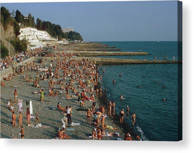 Sochi Acrylic Print featuring the photograph Black Sea Coast by Harvey Meston