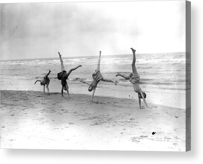 People Acrylic Print featuring the photograph Cartwheels by Fox Photos