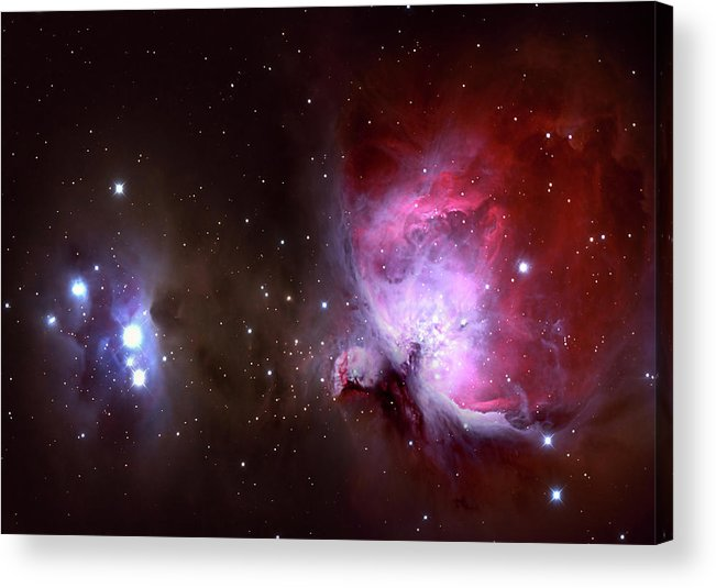 Natural Gas Acrylic Print featuring the photograph Closeup Of The Great Orion Nebula by Manfred konrad