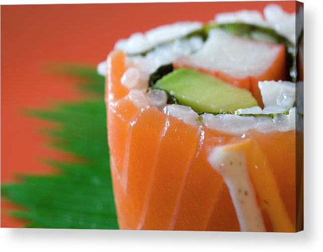 Asian And Indian Ethnicities Acrylic Print featuring the photograph Colorful Sushi by Creativeye99