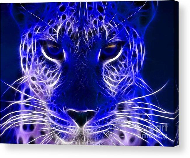 Cool Wolf Electric Animal Wallpaper Acrylic Print By Ad Salaheddine