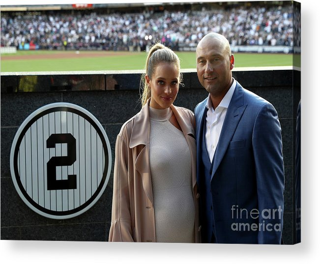 People Acrylic Print featuring the photograph Derek Jeter Ceremony by Elsa