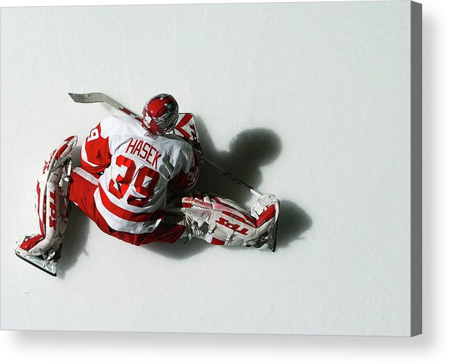 National Hockey League Acrylic Print featuring the photograph Detroit Red Wings V New York Islanders by Al Bello