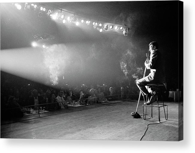 Timeincown Acrylic Print featuring the photograph Entertainer Dean Martin On Stage by Allan Grant