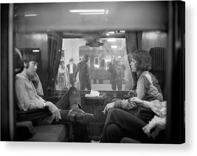 Singer Acrylic Print featuring the photograph First Class Travel by Victor Blackman
