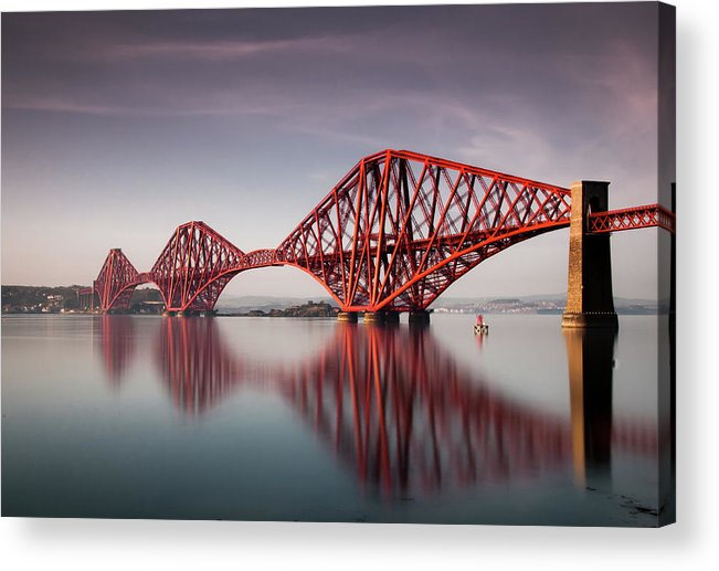 Built Structure Acrylic Print featuring the photograph Forth Rail Bridge by Jon Wild