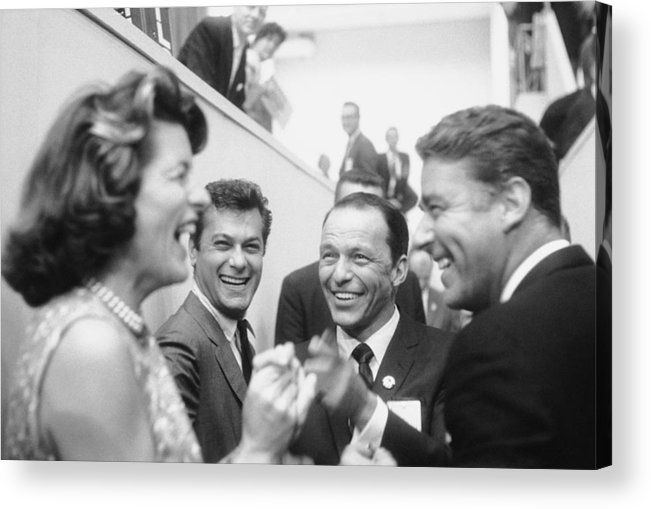 Timeincown Acrylic Print featuring the photograph Frank Sinatrapeter Lawford & Wifetony by Ed Clark