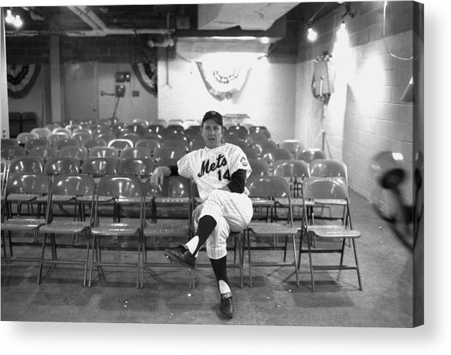 American League Baseball Acrylic Print featuring the photograph Gil Hodges Of The 1969 New York Mets by New York Daily News Archive