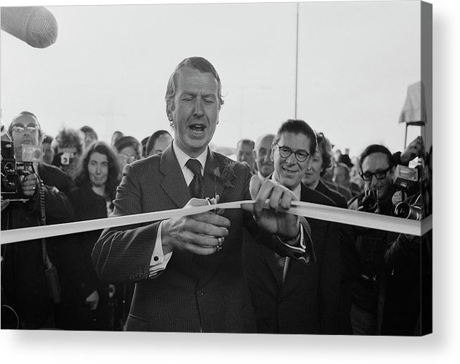 People Acrylic Print featuring the photograph Gravelly Hill Interchange Opening by R. Viner