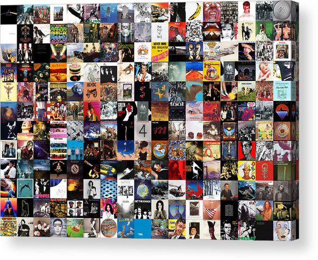 Album Covers Acrylic Print featuring the digital art Greatest Album Covers of All Time by Zapista OU