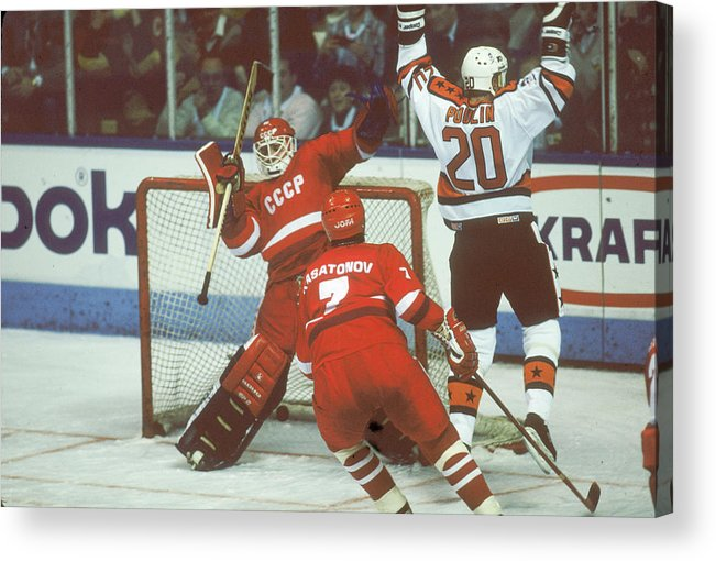 Event Acrylic Print featuring the photograph Hockey Fun At Rendezvous 87 by B Bennett
