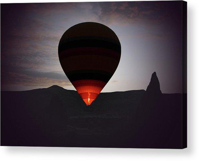 Hot Air Balloon Acrylic Print featuring the photograph Hot Air Ballon by M.cantarero