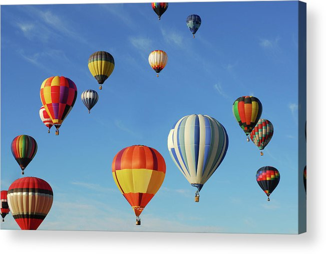 New Mexico Acrylic Print featuring the photograph Hot Air Balloons by Sjlayne