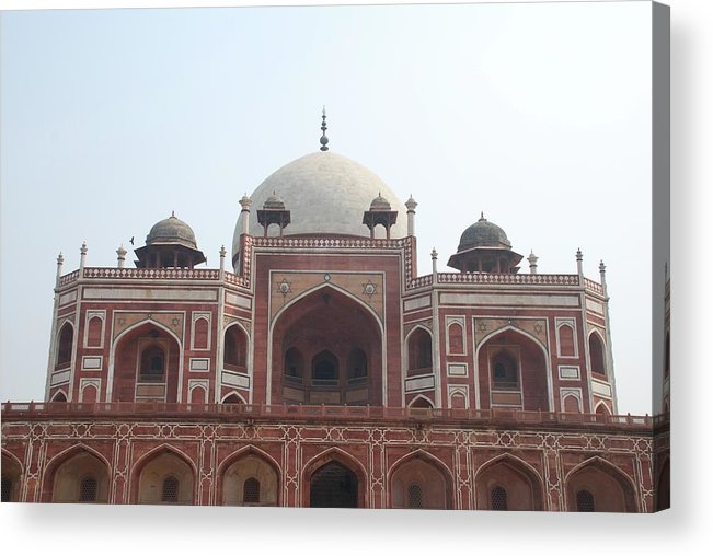 Arch Acrylic Print featuring the photograph Humayuns Tomb, Delhi by Brajeshwar.me